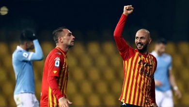 Serie A: Lazio held to 1-1 draw at Benevento; Crotone versus Udinese finishes in draw too