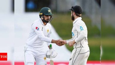 1st Test: Pakistan out for 239 after Faheem Ashraf frustrates New Zealand attack | Cricket News - Times of India
