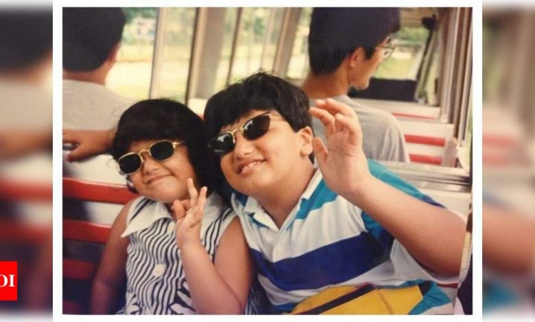 Arjun Kapoor shares a rare childhood picture with sister Anshula and pens an emotional note on her birthday - Times of India