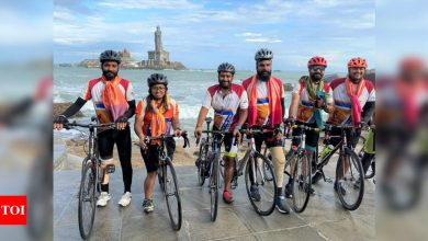 Beating COVID-19 challenges, Indian para cyclists complete cycle ride from Kashmir to Kanyakumari   More sports News - Times of India