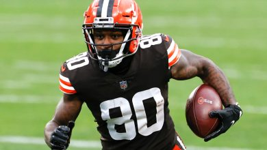 Browns top three receivers placed on COVID-19 list