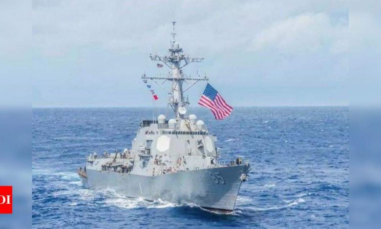 China says tailed US warship in Taiwan Strait - Times of India