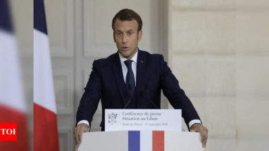 Covid positive French President Emmanuel Macron's condition stable - Times of India