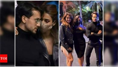 Disha Patani and Tiger Shroff pose with fans in Dubai; photos go viral on the internet - Times of India