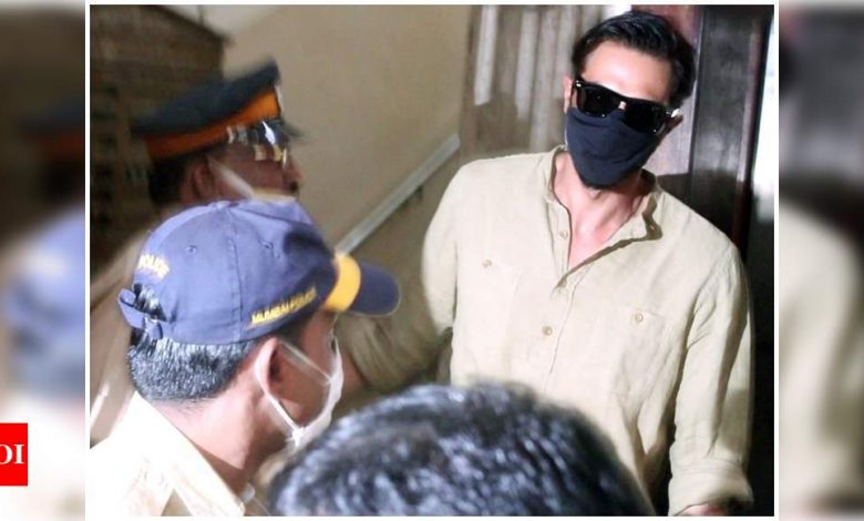 Drug Case: Arjun Rampal gets clicked outside NCB office, view pics - Times of India