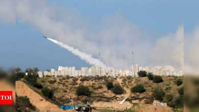 Gaza forces fire rockets to mark Israel conflict anniversary - Times of India