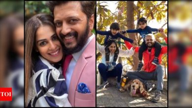 Genelia D'Souza wishes her 'navra' Riteish Deshmukh on his birthday with an aww-dorable post; actor has a sweet reply for his 'baiko' - Times of India