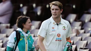 Justin Langer has 'fingers crossed' that Cameron Green will be available for Test debut