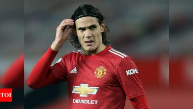 Man United's Cavani banned for three games for offensive post | Football News - Times of India
