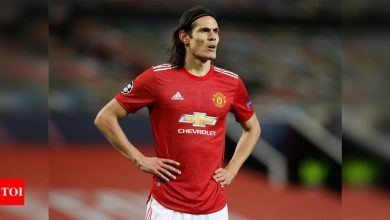 Manchester United striker Cavani charged by English FA with misconduct | Football News - Times of India
