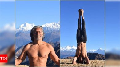 Milind Soman's new bare-chested move will give you fitness goals - Times of India