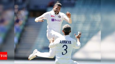Mohammed Siraj:  India vs Australia: Bereaved India paceman Mohammed Siraj savours emotional Test debut | Cricket News - Times of India