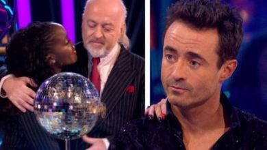 Oti Mabuse reacts as Strictly winner Joe McFadden claims Bill Bailey has taken his mantle