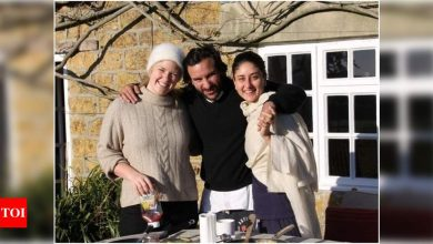 Parents-to-be Kareena Kapoor Khan and Saif Ali Khan are all smiles in THIS throwback photo from their London vacay - Times of India