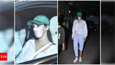 Photos: Disha Patani keeps it stylish and comfy as she steps out for work in the city - Times of India