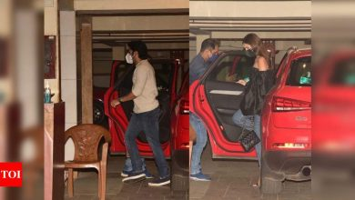 Photos: Tara Sutaria and Aadar Jain arrive at Kareena Kapoor Khan - Saif Ali Khan's residence - Times of India