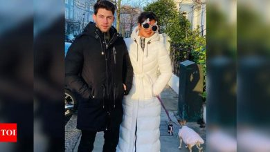 Priyanka Chopra celebrates the Christmas spirit with husband Nick Jonas; shares a sweet picture from London - Times of India