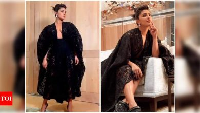 Priyanka Chopra is giving us major fashion goals as she dons an alluring black sheer-lace cocktail dress in her latest post - Times of India ►