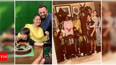 Taimur Ali Khan is all smiles celebrating his special day with Kareena Kapoor, Saif Ali Khan and others - Times of India