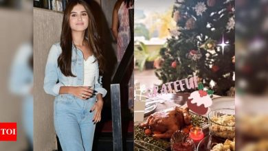Tara Sutaria is ready for the holiday season with her Victorian themed home décor, shares a glimpse of her Christmas tree - Times of India