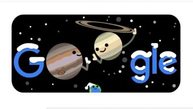 Today's Google Doodle celebrates 'The Great Conjunction' of Jupiter and Saturn and 'Winter 2020'- Technology News, Firstpost