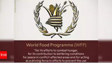 UN food agency to receive Nobel prize in online event - Times of India