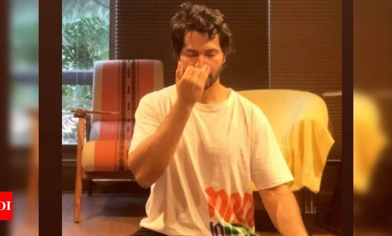 Varun Dhawan takes to yoga as he recovers from COVID-19, shares a glimpse on social media - Times of India