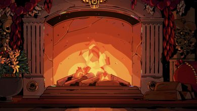 Venture back into the underworld to curl up in front of Hades' excellent Yule log