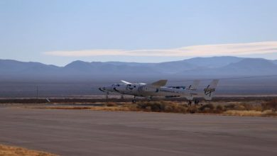 Virgin Galactic rocket lands safely after its test flight abruptly ended due to a motor failure