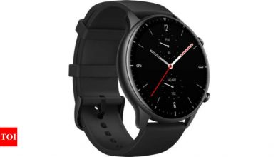 amazfit:  Amazfit GTR 2 smartwatch launched for Rs 12,999 - Times of India