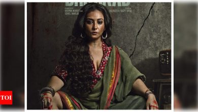 'Dhaakad': Divya Dutta looks bold and menacing as 'Rohini' in the first look poster of the Kangana Ranaut starrer - Times of India