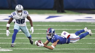 Giants get a break on controversial 'reception'