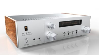 JBL's new stereo amplifier pairs retro looks with modern connectivity