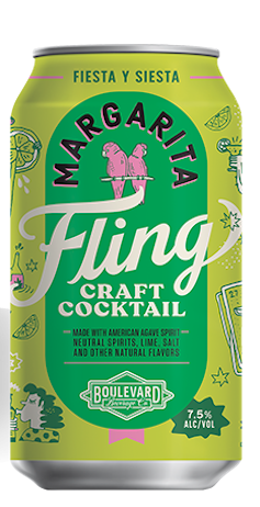 STYLECASTER | 13 Canned Cocktails for Summer Days When Beer Won't Cut It | Boulevard Brewing Co. Fling Margarita
