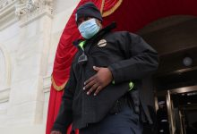 Hero Officer Who Led Capitol Rioters Away From Senate Is a Harris Escort
