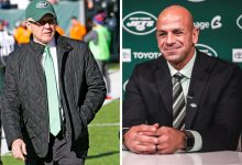 Robert Saleh meets returning Jets boss Woody Johnson