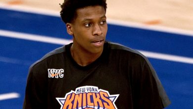 Knicks' Frank Ntilikina 'getting there' after knee injury