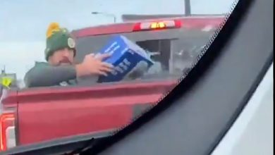 Aaron Rodgers: 'That was me' in back of pickup truck with case of beer