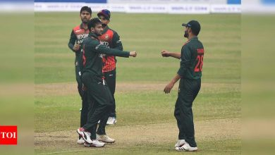 1st ODI: Shakib returns with 4-8 as Bangladesh defeat West Indies | Cricket News - Times of India