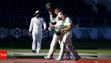 2nd Test, Day 1: Nortje, Elgar put South Africa on top against Sri Lanka   Cricket News - Times of India