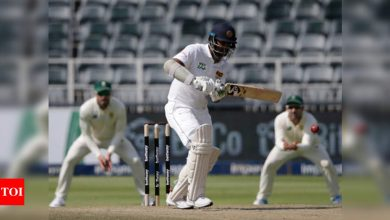 2nd Test: Karunaratne gives Sri Lanka slender lead after South Africa collapse   Cricket News - Times of India