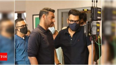 Ajay Devgn announces the wrap of MayDay's first 'long schedule' with a BTS photo; captions it 'satisfying to be on set' - Times of India