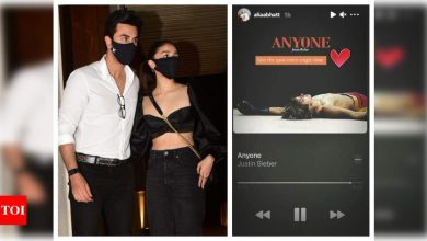 Alia Bhatt hooked to Justin Bieber's love track 'Anyone'; is Ranbir Kapoor on her mind? - Times of India