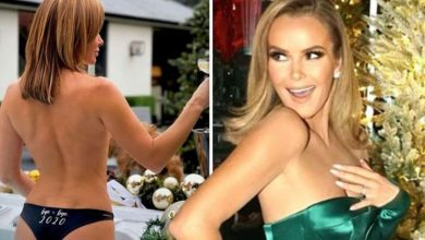 Amanda Holden: BGT star sparks frenzy in topless hot-tub session for New Year 'Bottoms up'