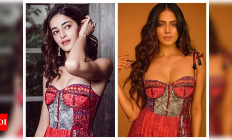 Ananya Panday or Malavika Mohanan: Which beauty rocked THIS spaghetti strap dress better? - Times of India