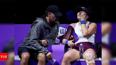 Andreescu's coach says he tested positive on Australian Open's Abu Dhabi flight | Tennis News - Times of India