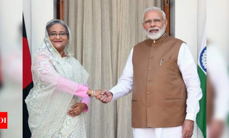 Bangladesh PM Hasina thanks PM Narendra Modi for Covid-19 vaccine gift | India News - Times of India