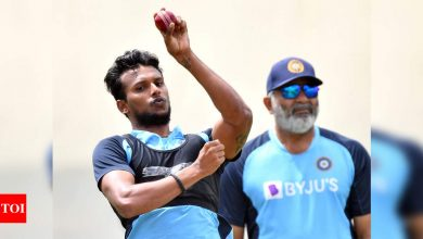 Being left-armer works as an advantage for me: Natarajan | Cricket News - Times of India