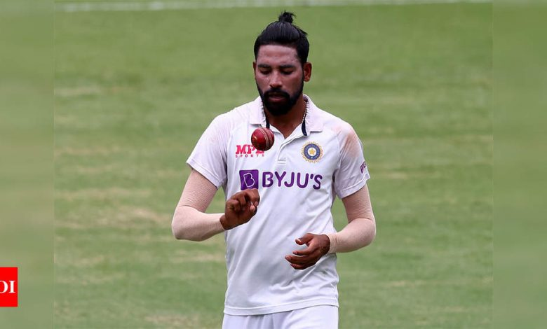 Bowling at a single stump during the lockdown turned Siraj into a dangerous bowler   Cricket News - Times of India