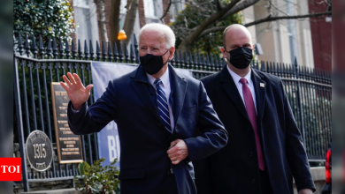 Church and bagels to go: Biden's first White House Sunday - Times of India